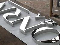 mirror stainless steel 3D Logo letter signage