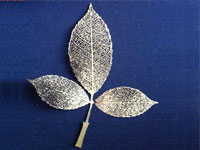 etching brass leaves