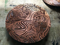 deep etching on copper